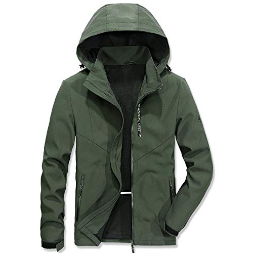 Mens Coats Thick Wool Coats Cashmere Jacket Long Elegant Outwear Slim Fit Trench Coat Solid color men's quick-drying hooded jacket-military_XXXXL