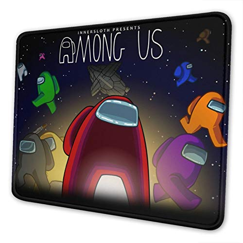 DEMO QUEEN Among-Us Gaming Mouse Pad Non-Slip Rubber Mouse Pads Laptop Computer Gaming Mouse Mat with Stitched Edges for Gaming Working Studying 10 X 12 Inch