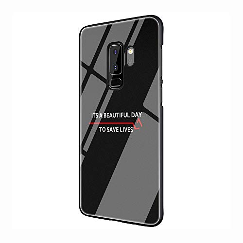 Greys Anatomy You're My Person Tempered Glass TPU Black Cover Case for Samsung Galaxy S7 Edge S8 S9 S10 Plus (G10,for Galaxy S10 Plus)