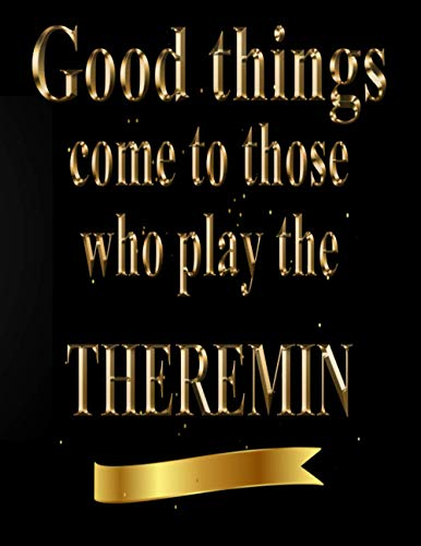 clasificación y comparación A los que tocan el theremin les pasan cosas buenas.  Libro de música Theremin en blanco, manuscrito … para casa