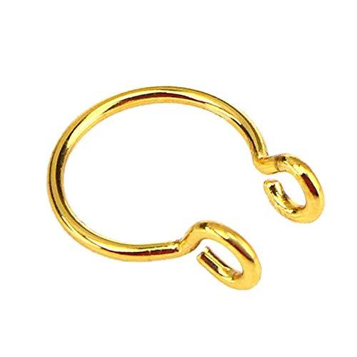 LJJYD U Shaped Nose Clip Septum Ring Clip On No Pierced Horseshoe Hoop Ring Body Jewelry for Women Men
