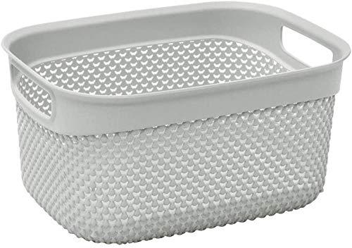 Diseño de plástico cesta del almacenaje33L25 x 55 x 37 cm aproxgrisUn tamaño