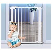 ZEMIN ウォークスルー バリア ベビー ゲート ペット 安全扉 安全性 信頼性のある 複数の場所が利用可能、 マルチサイズ (Color : H 76cm, Size : W 105-112cm)