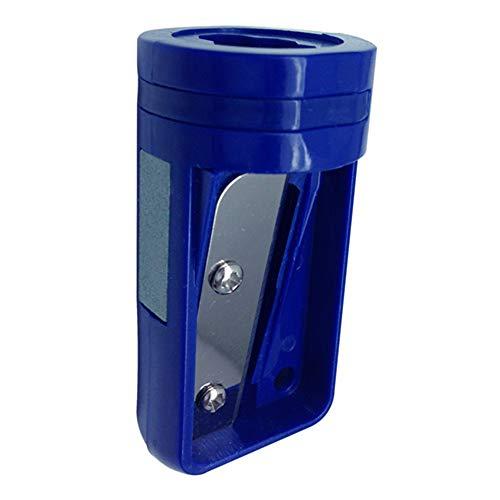 オフィスシップカーペンター鉛筆削り 手動ポータブル木工鉛筆カッター 5.08cm L x 2.54cm W x 2.54cm H - ブルー - 6個入り