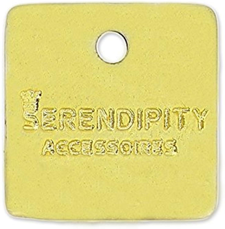 exclusivo Dije personalizado cuadrado cuadrado cuadrado 10 mm dorado x1000  salida