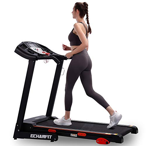 ECHANFIT Folding Treadmill Electric Motorized Running Machine with 2.5 HP Power 15 Preset Programs 17''Wide Tread Belt 8.5 MPH Max Speed for Home Use