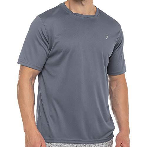 CFLEX Herren Sport Shirt Fitness T-Shirt piqué Sportswear Collection - Grau L