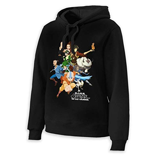 Shichangwei Avatar The Last Legend Airbender of Korra Aang - Sudadera de manga larga con capucha para mujer, color negro