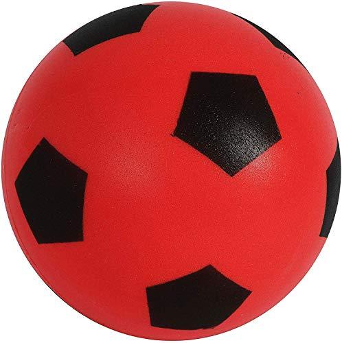 eMKay 17,5 cm roter Fußball | Indoor / Outdoor weicher Schaumstoff-Fußball für Erwachsene und Kinder, Jungen und Mädchen