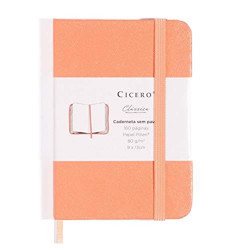 Caderneta Ciceros Clássica, Coral, Sem Pauta, 160 fls, Papel Pólen 80g/m², Tamanho Pequeno (9x13)