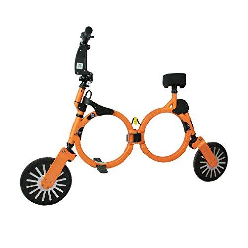 Ultralichte opvouwbare rugzak E-bike Opvouwbare elektrische scooter 2 wiel oranje AU-stekker