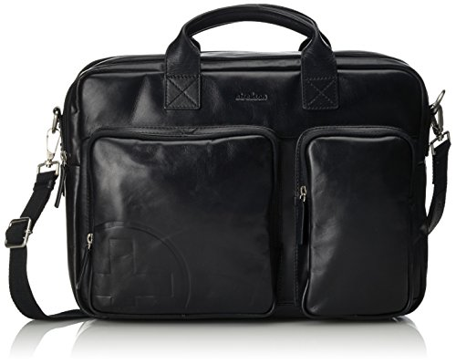 Strellson Jones soft-briefcase 4010000121 Herren Henkeltaschen 40x29x10 cm (B x H x T), Schwarz (black 900)
