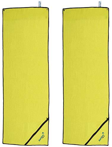 Toalla amarilla de Microfibra para Deporte