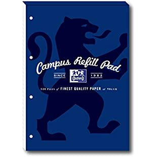Oxford Campus A4 Size Refill Pad, 140 Pages, Navy, Pack of 5