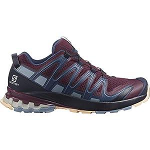 Salomon Women's Trail Running Shoe, Winetasting/Night Sky/Almond Cream, 10