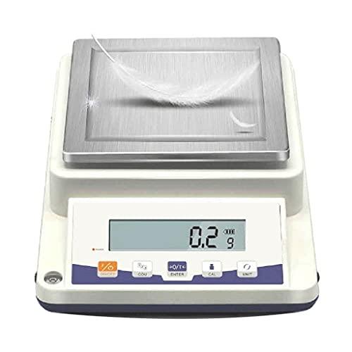 WZ Balanza Digital Alta Precisión Balanza Electrónica Analítica Laboratorio Escala Equilibrio Cocina Escala Oro Joyería Pantalla LCD (Size : 5100g/0.1g)