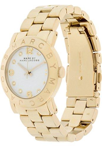 Marc Jacobs Damen-Armbanduhr Analog Quarz Edelstahl MBM3056