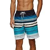 Arcweg Bañadores para Hombres Chicos Pantalones Cortos Deportes Secado Rápido Transpirable para Playa Surf Natación Negro Raya Talla XL(EU)