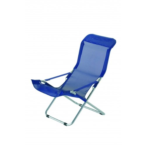 FIAM - Fiesta Chaise Longue en aluminium siège en texfil couleur bleu