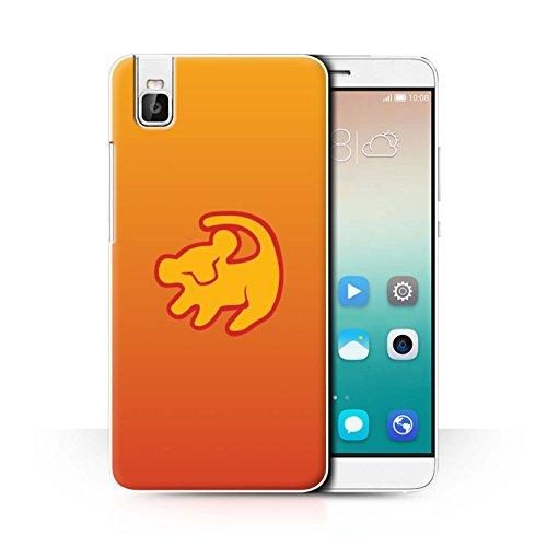Hülle Für Huawei Honor 7i/ShotX Karikatur Afrikanische Tiere Lion Symbol Design Transparent Ultra Dünn Klar Hart Schutz Handyhülle Hülle