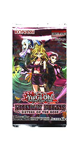 Yu-Gi-Oh! Legendary Duelists - Sisters of The Rose Booster mit 5 Karten