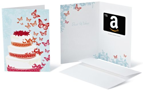 Amazon.com $75 Gift Card in a Greeting Card (Wedding Design)