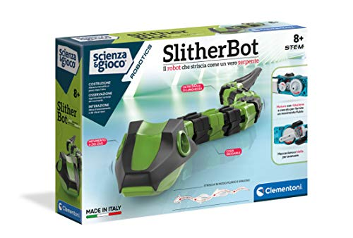 Clementoni - Ciencia y Juego Robotics-SlitherBot, Robot para niños, Kit de robótica (versión en Italiano) -8 años +, Fabricado en Italia, Multicolor, 19204