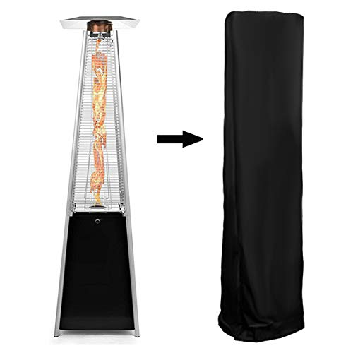 Duokon - Cubierta Protectora contra la Intemperie para radiadores de terraza con Forma piramidal (Tejido Oxford Transpirable, 81,5 x 225 cm), Color Negro