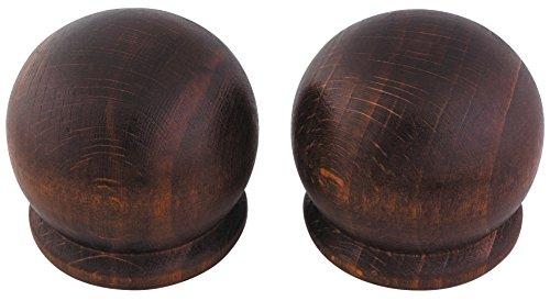 ATELIERS 28 Embout Pomme Merisier - Diamètre 35 mm - Vendu par 2