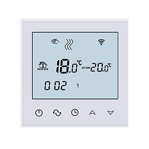 Beok tds21 Wifi Digital Raumthermostat Fußbodenheizung Thermostatheizkörper Wandthermostat programmierbar Room mit großer LCD-Bildschirm Fernbedienung durch Smartphone App