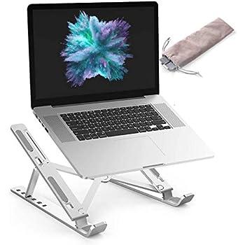 "Eagle Store Laptop Stand for Desk,Adjustable Laptop Stand,Aluminum Laptop Stands,Ergonomic Foldable Portable Laptop Stands Compatible with MacBook Air Pro,Lenovo More 10-15.6"" Laptops (Silver)"