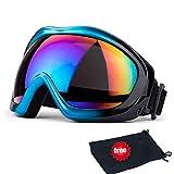JTENG Gafas de esquí, Snowboard, protección UV, Gafas de esquí, Gafas de Nieve, Gafas de Snowboard, Gafas de Espejo, Gafas de Moto, para Mujer, Hombre, niña, niño