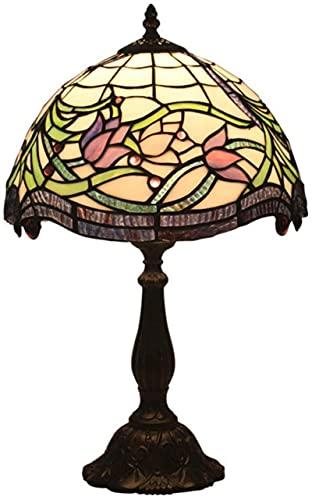 Wzglod Tiffany Lámpara de Mesa Retro Pastoral Creativo Dormitorio Noche Sala de Estar Restaurante Bar Café Lámpara de Mesa de vidrieras de café Lámparas marroquíes