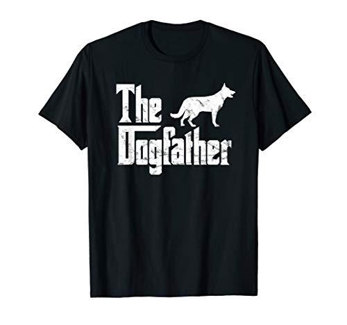 Deutscher Schäferhund T-Shirt Das Dogfather Hundebesitzer T-Shirt
