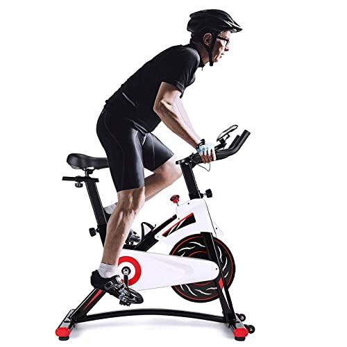 Bici da Esercizio, Bici da Ciclismo da Interno, Bike Stazionario Resistenza Magnetica Whisper Silenzioso per la casa Cardio Workout Flywheel Pesante e Comodo Cuscino del Sedile con Monitor Digitale
