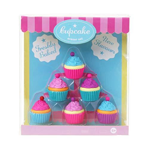 Wusuowei Kawaii - Juego de 6 gomas de borrar para tartas y postres, para niños, artículos de papelería, regalos de fiesta de cumpleaños