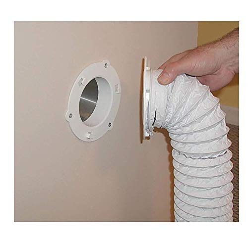 Dryer Dock The Original Dryer Vent Quick Release - Two-Piece Dryer Hose Quick-Connect, Twist & Lock Tight, Fits 4 Inch Tubes