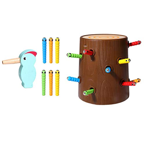 HomeDecTime Juego de Juguete Montessori de Juguete de Madera para Nios en Edad Preescolar