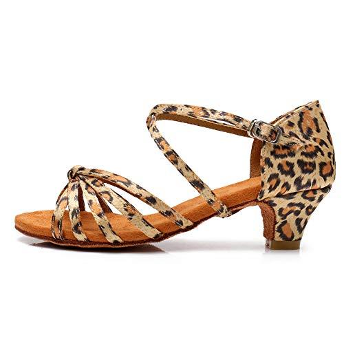 HROYL Zapatos de Baile Latino para Niña y Mujer Zapatos de Baile...