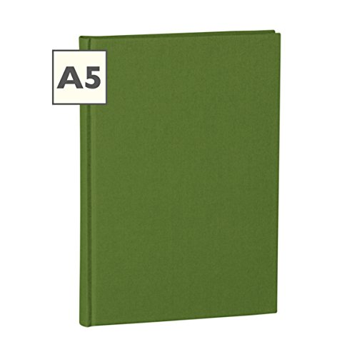 Semikolon (351220) Notizbuch Classic A5 blanko irish (dunkel-grün) - Buchleinenbezug - 160 Seiten mit cremeweißem 100g/m²- Papier - Lesezeichen