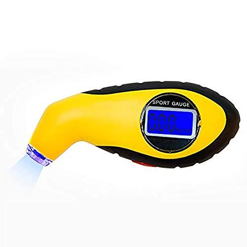 Manómetro Digital para Neumáticos, Medidor Digital de presión de neumáticos Coche Bicicleta Camión Auto Air PSI Meter Tester Medidor de neumáticos, retroiluminación Pantalla LCD, con luz de Boquilla