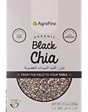 أغروفينو 500 غ بذور الشيا السوداء العضوية - خالي من الغلوتين