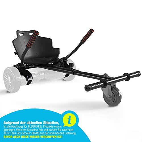 Bluewheel Sitzscooter HK200 Kart Sitz Erweiterung für 6, 5-10 Zoll Self Balance Scooter,Hover, E-Kart, Kart,Elektro Go-Kart, Sitzaufsatz, Schalensitz & Umbausatz,anpassbarer Stahl-Rahmen