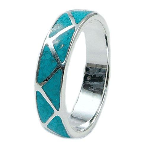 Indianerschmuck Ring aus Sterling Silber - Indianer Hochzeitsring,Türkis-14: Durchmesser 23,00 mm, Umfang 72,50 mm