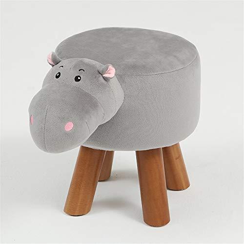 Afenger kruk kinderen kruk massief houten huisdier stoel volwassenen mode kruk woonkamer bank veranderen schoenen bank bank nijlpaard