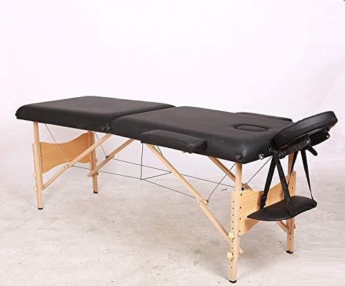KEDUODUO Table de Massage, Salon Traitement, Bois Pliable, Beauté Canapé, Têtière Soutien, Sac...