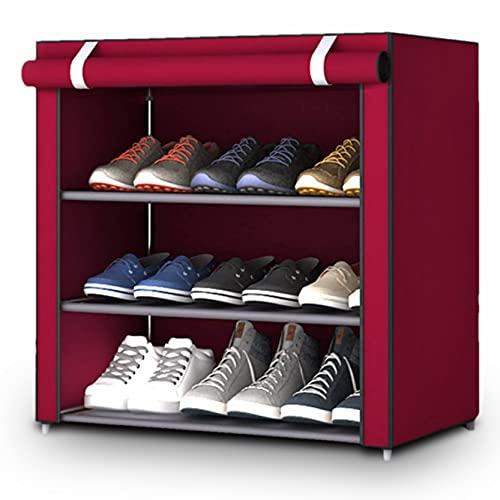 Evisen, Scarpiera in tessuto per interni, esterni e armadietto con cerniera - Organizer di scarpe per...