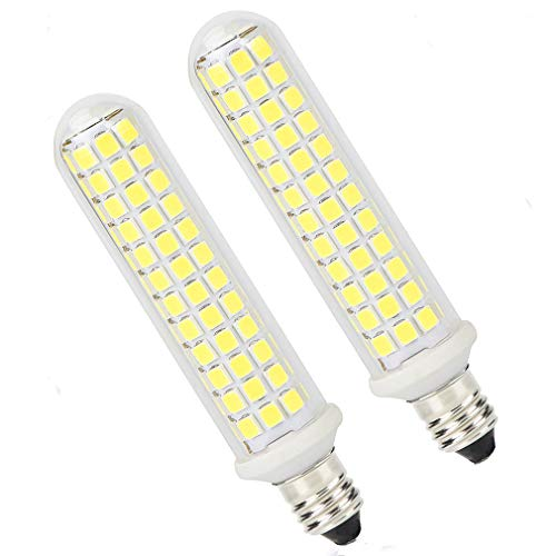 E11 T4 Candelabra Light LED Dimmable Bulb Patent, 10W E11 Base Led Bulbs 100W Halogen Replacement 2 Pack, 125SMD2835 Corn JDE11 LED Bulb 120V for Chandeliers, Sconce, Cabinet Lighting, Daylight 6000K