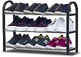 AMYZ Estante de plástico para Zapatos de 4 Niveles,Organizador de pie para...