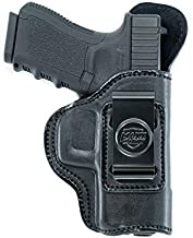 Inside The Waistband Leather Holster for Sig Sauer P250 Sub Compact Slim. IWB Holster with Clip Conceal Carry. Black Left Hand.
